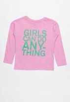 Cotton On - Long sleeve tee - pink