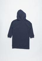 Cotton On - Long sleeve hood dress - navy