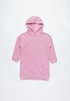 Cotton On - Long sleeve hood dress - pink