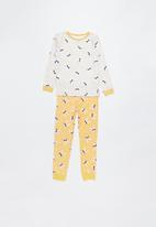 Cotton On - Long sleeve girls pyjama set - yellow