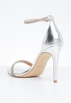ALDO - Rhinestone embellished heel - silver