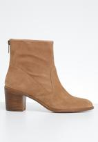ALDO - Astima suede ankle boot - beige