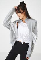 Cotton On - Batwing zip through - grey