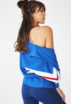 Cotton On - Batwing zip through - blue