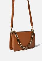 Cotton On - In chains cross body bag - tan