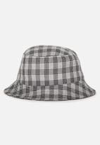 Cotton On - Bella bucket hat - black & grey
