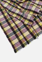 Cotton On - Lexi mid weight check scarf - multi