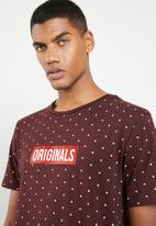 Jack & Jones - Polka short sleeve T-shirt - burgundy