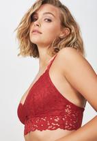 Cotton On - Hayley longline bralette - red