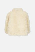 Cotton On - Tash teddy slouch jacket - cream