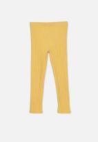 Cotton On - Huggie chunky rib tights - yellow