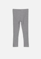 Cotton On - Huggie chunky rib tights - grey