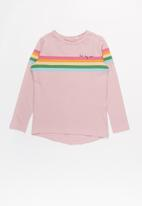 name it - Frodina ls rainbow print - multi