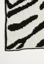 Superbalist - Zebra print scarf - white & black