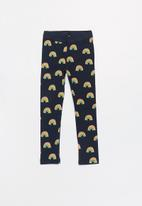 name it - Freje rainbow print leggings - navy