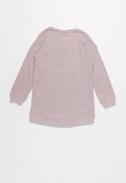 name it - Kids girls tunic sweat top - pink
