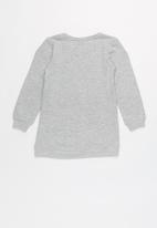 name it - Kids girls tunic sweat top - grey