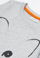 name it - Kids girls fred sweat top - grey