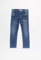 name it - Kids boys slim denim pants - blue