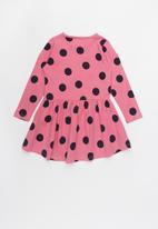name it - Kids girls long sleeve dress - pink & navy