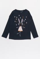 name it - Kids girls vix ls top - navy
