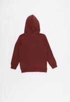 name it - Kids boys zip through hoodie - burgundy