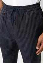 New Look - Pinstripe chino - navy