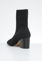 ALDO - Ankle sock boot - black