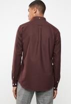 New Look - New oxford slim fit shirt - burgundy