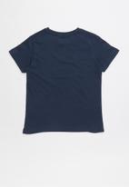 POP CANDY - Short sleeve printed  tee - navy