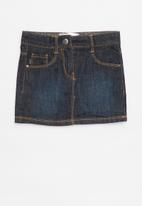 POP CANDY - Denim skirt - black