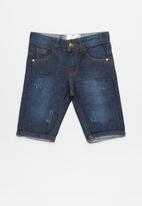 POP CANDY - Denim shorts - navy