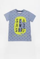 MINOTI - Keywest aop washed marl tee - blue