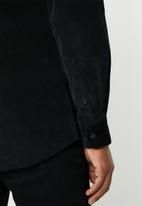 Only & Sons - Marshall corduroy shirt - black