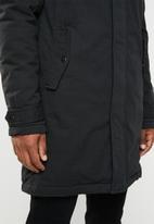 Superbalist - Padded parka jacket - black