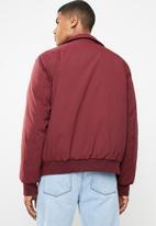 Superbalist - Padded harrington jacket - burgundy