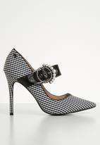 Miss Black - Karabo mary jane heels - black & white
