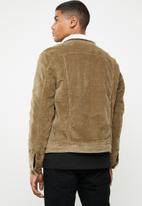 Only & Sons - Corduroy teddy jacket - brown
