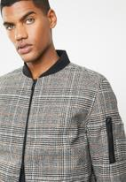 Only & Sons - Wool bomber - brown & black