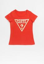 GUESS - Teens short sleeve holo tri tee - red