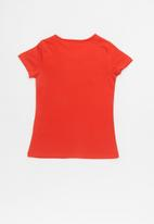 GUESS - Short sleeve holo tri tee - red