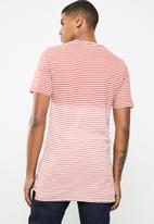 Only & Sons - Hanson bleached stripe tee - rust & cream