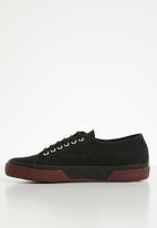 SUPERGA - 2750 contrast bumper canvas lo mens - l61 black/bordeaux
