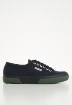 SUPERGA - 2750 contrast bumper canvas lo mens - l67 bluenavy dk green