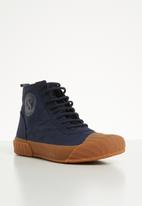 SUPERGA - 228 canvas logo boot - navy/gum