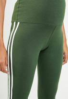 edit Maternity - Racing stripe leggings - khaki green