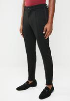 Only & Sons - Mark tapered side piping trouser - black