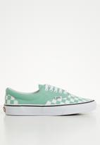 Vans - Era - (Checkerboard) - neptune green/true white