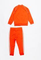 adidas Originals - Superstar track suit  - orange & white