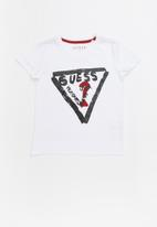 GUESS - Short sleeve Guess plastisol tee - multi